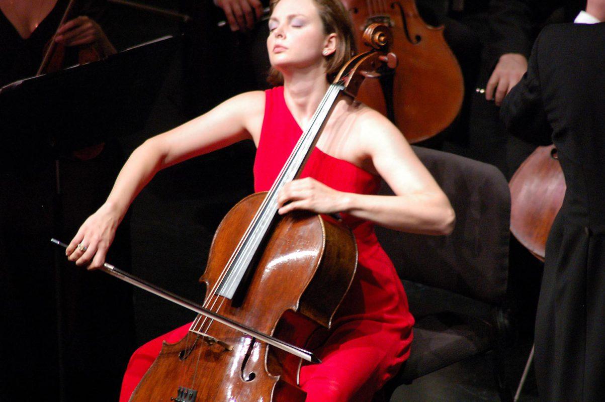 Nina Kotova with Stephane Deneve and the RNO: Photo by J. Henry Fair