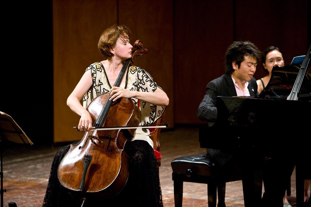 Nina Kotova with Lang-Lang: Photo by J. Henry Fair