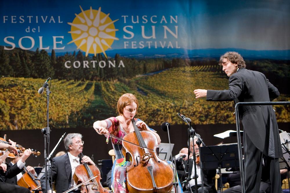 Nina Kotova with Carlo Ponti Jr. and the Russian National Orchestra: Photo by J. Henry Fair