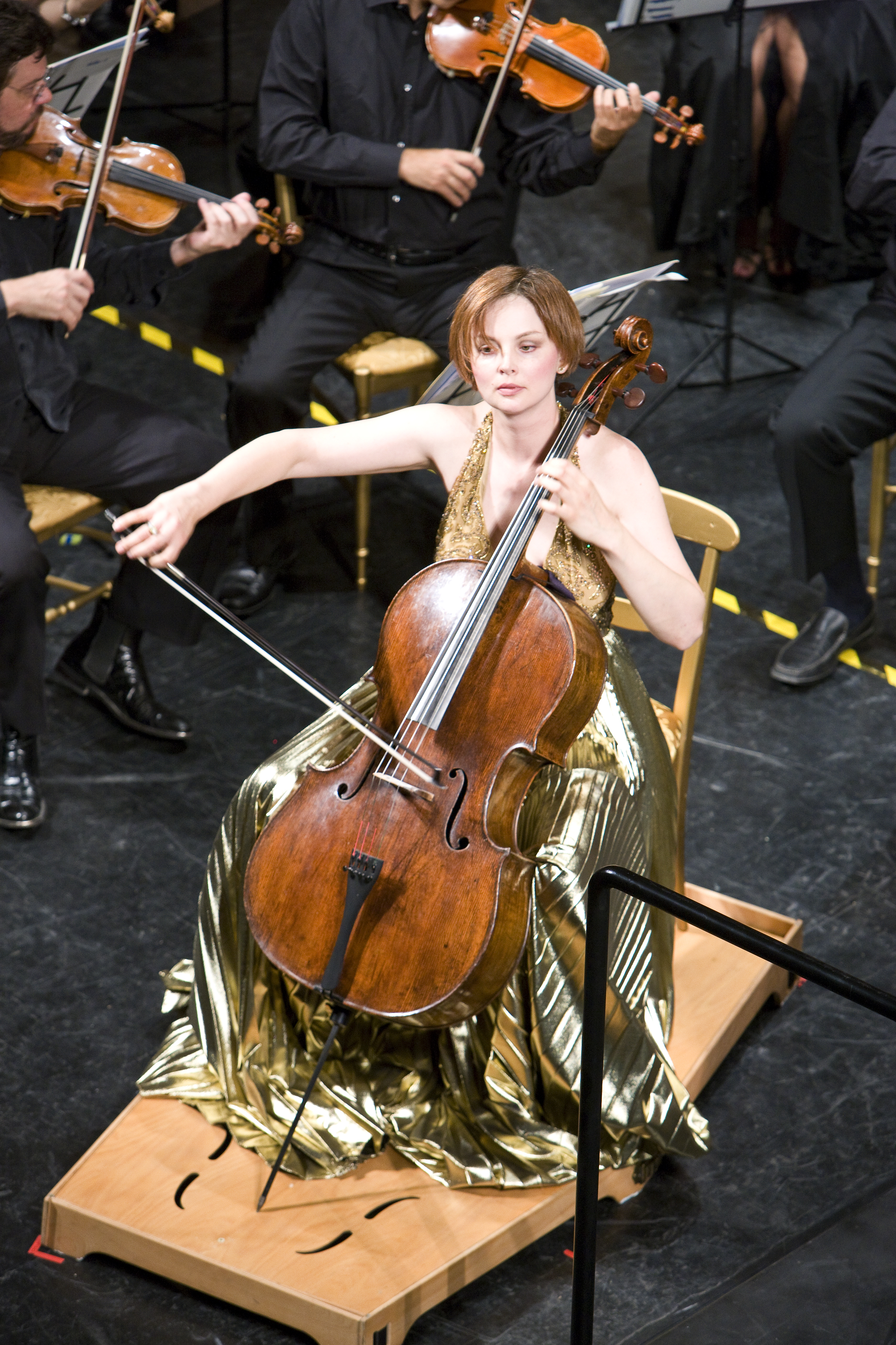 Nina Kotova with Carlo Montanaro and Maggio Musicale Fiorentino: Photo by J. Henry Fair