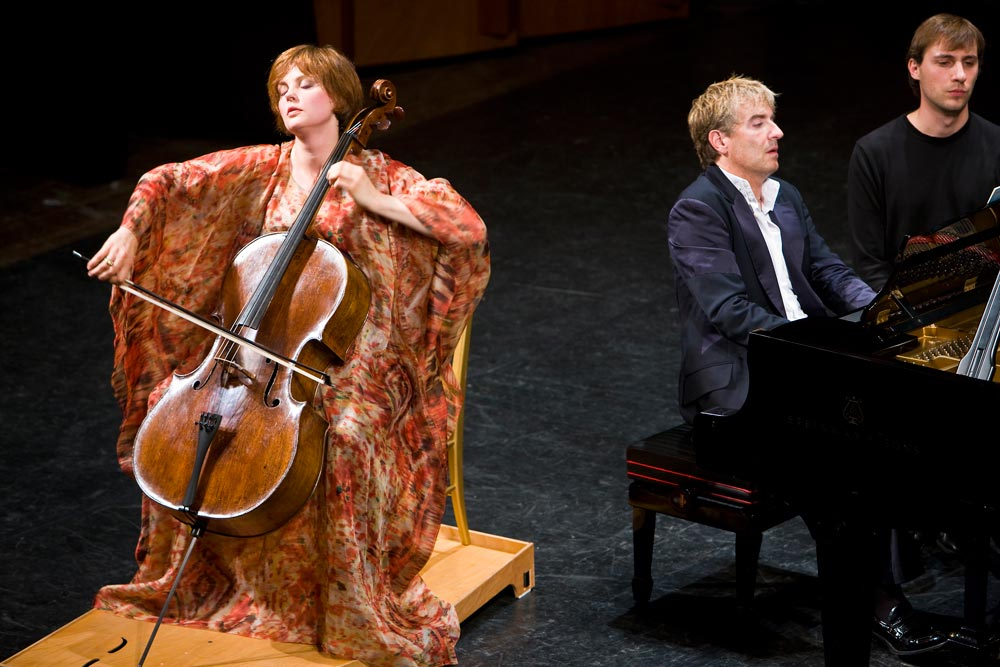 Nina Kotova and Jean-Yves Thibaudet: Photo by J. Henry Fair